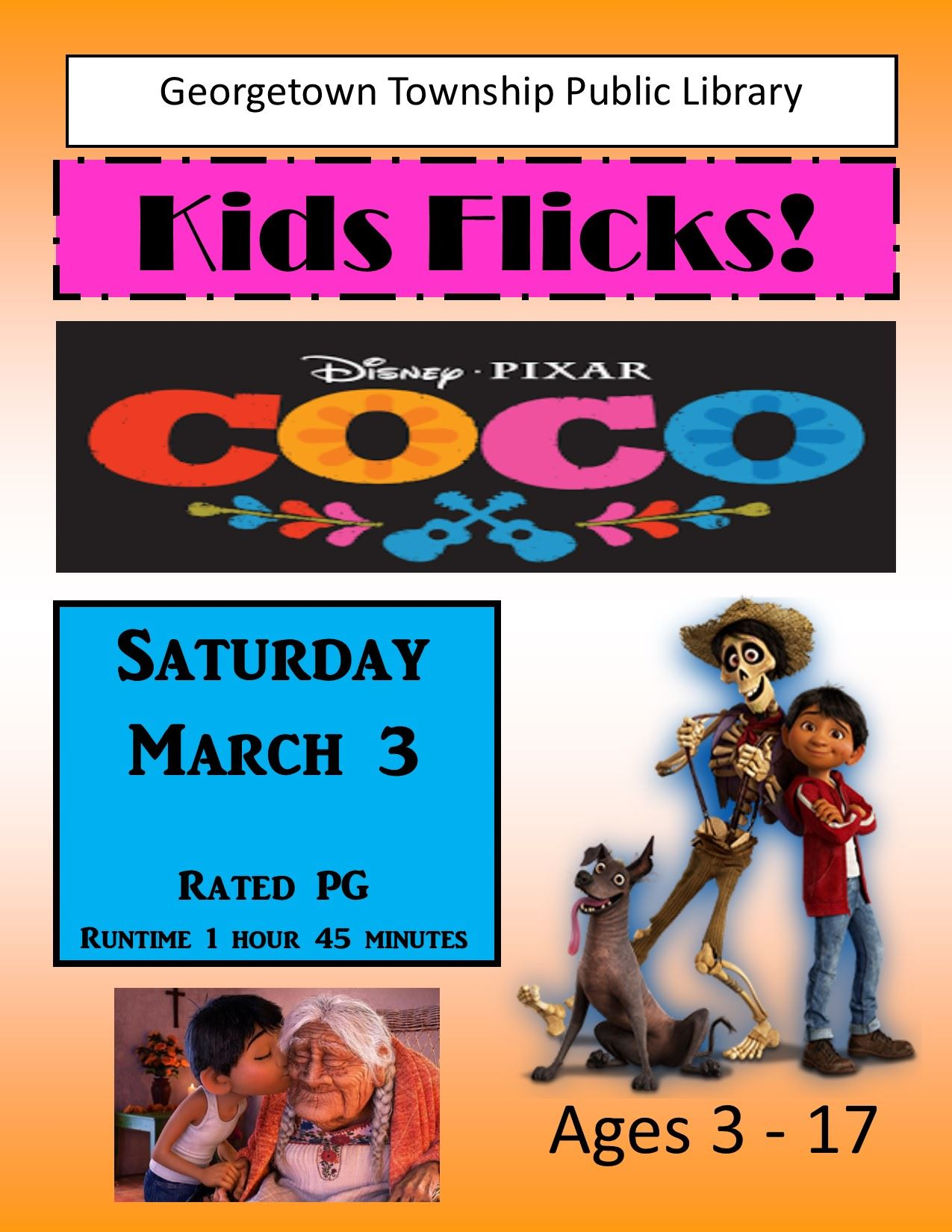 2018 March 3 Kids Flicks Coco